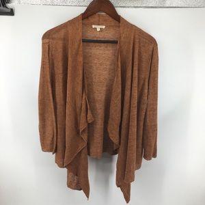 Eileen Fisher Linen Waterfall Knit Cardigan